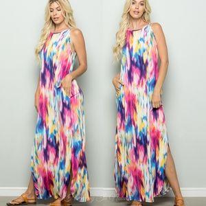 LAST Colorful Sleeveless Maxi Dress